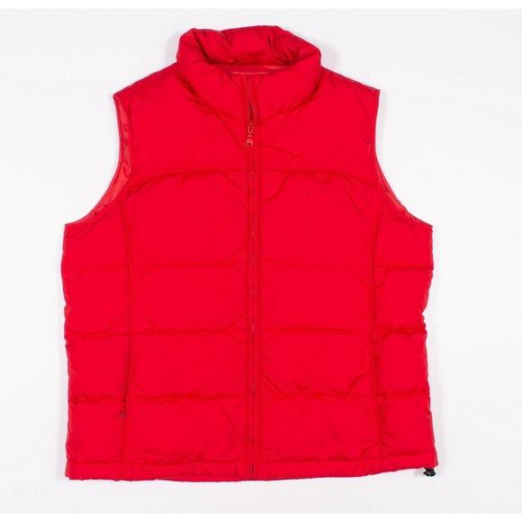 Eddie Bauer Red Goose Down Puffer Vest